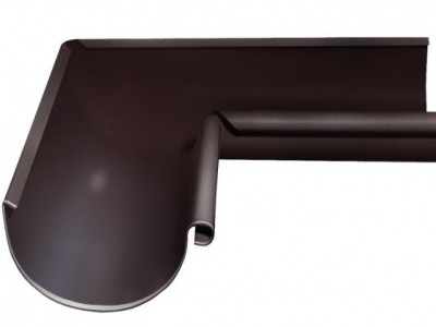 Угол желоба внутренний, 90 гр,125 мм RAL 8017 шоколад