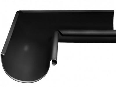 Угол желоба внутренний, 90 гр,125 мм RAL 9005 черный