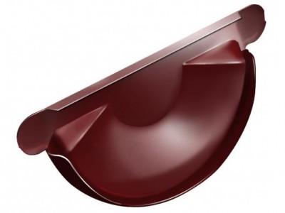 Заглушка торц.универс.,125 мм RAL 3011 коричнево-красный