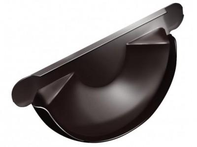 Заглушка торц.универс.,125 мм RAL 8017 шоколад