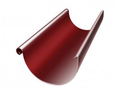 Желоб полукруглый, 125 мм, 3 м, RAL 3011 коричнево-красный