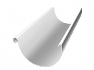 Желоб полукруглый, 125 мм, 3 м, RAL 9003 сигнальный белый