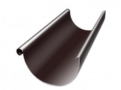 Желоб полукруглый, 125 мм, 3 м, RAL 8017 шоколад
