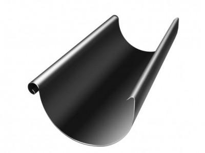 Желоб полукруглый, 125 мм, 3 м, RAL 9005 черный